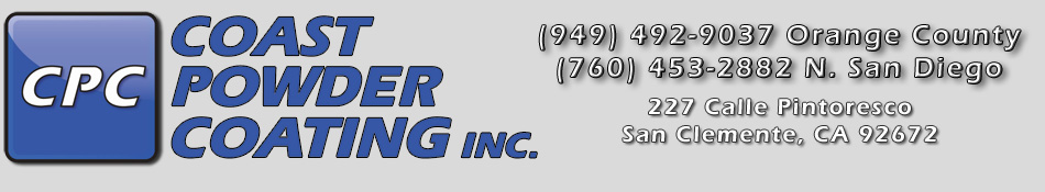 Coast Powder Coating -  San Clemente, California